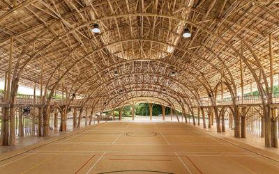 Bambus-Sporthalle